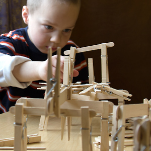 DIY Engineering Invention: Captivating Tabletop Construction Project Idea with Simple Clothespins