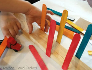Construction Truck STEM: EasyWay for Building Beams with Wood Planks and Popsicle Sticks