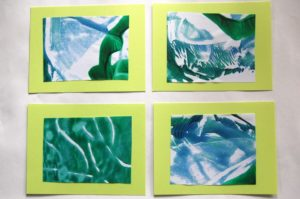 Utterly Creative Sheet Monoprints with Washable Tempera Paint on Cookie Sheet
