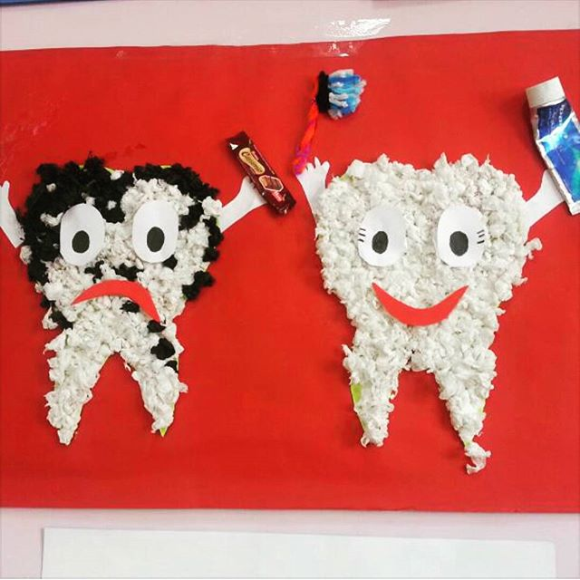 Funny Craft Activities and Worksheets for Preschoolers for Dental Helth Month