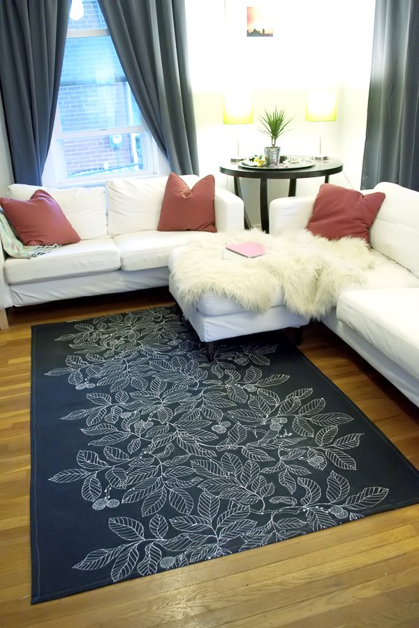 DIY Dropcloth Rug: A Super Quick Home Utility Project with Free Sewing Pattern