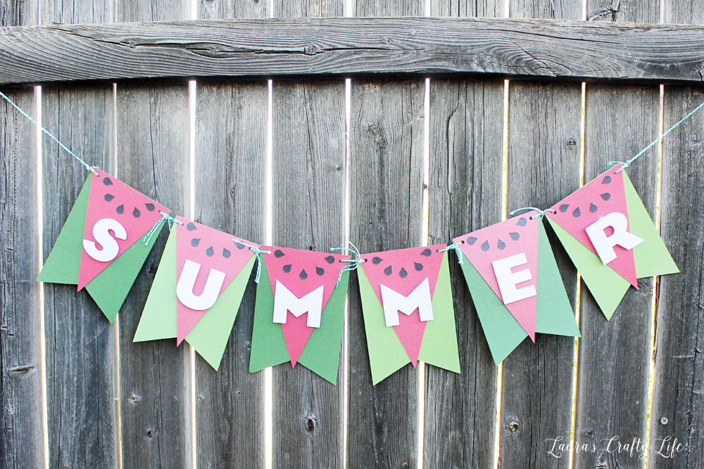 DIY Super Quick To Make Summer Banner Project with Colorful Paper Scaps