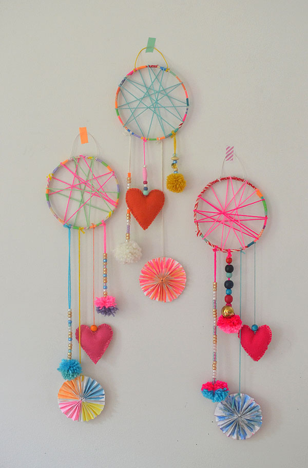 Diy Dream Catcher With Yarn Decoration And Cute Embelsihments Diy