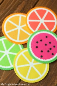 Colorful Citrus Perler Coasters: DIY Perfect Coaster Project for Summertime