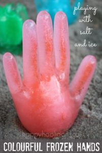 Simple-to-Craft Salt & Ice Made Hand Sculpture: An Appropriate Outdoor Project Idea Summertime
