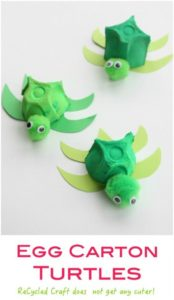 DIY Adorable Turtles with Painted Egg Carton: A Quick & Easy Summer Craft Project in Recycl ...