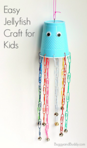 Easy Tutorial of Quick-to-Make Jellyfish: DIY Summer Craft with Paper Cups and Paperclips