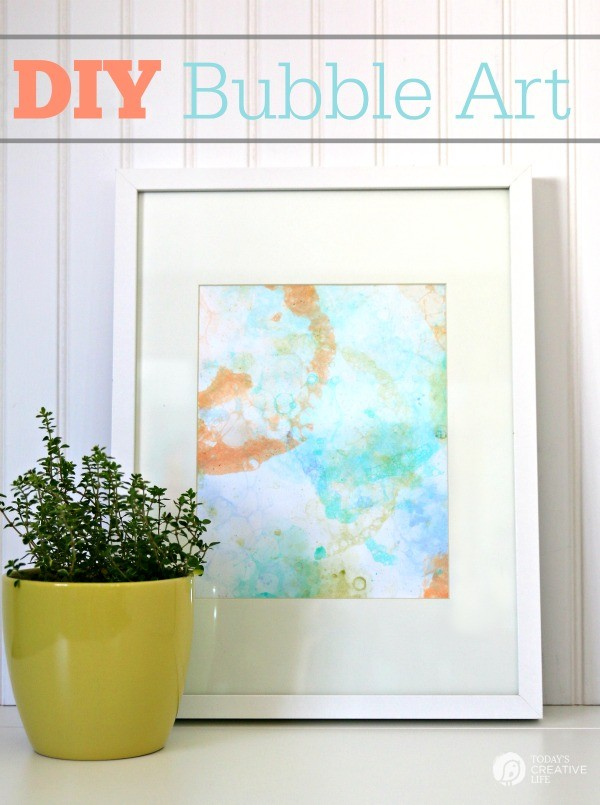 DIY Bubble Art Project: An Artistic Table Art Craft for Kids During Summertime Activity