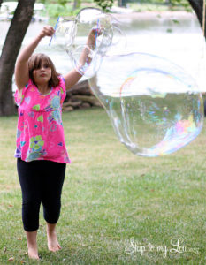 Totally Unique Giant Bubble Recipe: A Brilliant Outdoor Activity Idea for Summertime