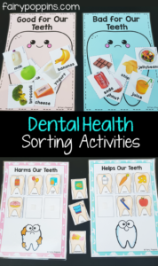 Dental Sorting Activities for Kids with The Apparent Idea of Teet -Beneficial and Harmful Foods