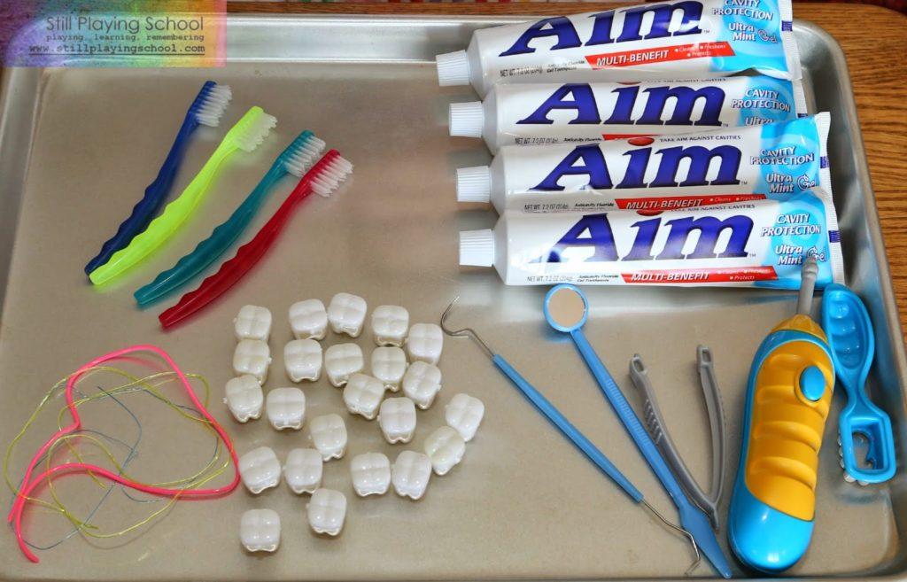 Dental Health Month Sensory Play: An Educational Activity Idea for Preschoolers