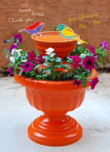 DIY Bird Bath: A Wonderful Planter Style with The Facility of Tiered Bird Bath Place