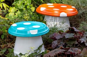DIY Garden ­Mushrooms: Colorful Backyard Projects By Birds & Blooms