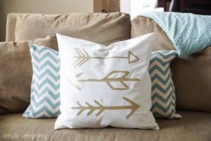 Fun Sewing Project: DIY Elegant Pillow Cover with Gold Arrow Designs