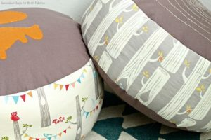 Faux Bois Log Slice Pillow DIY Kids Pouf Sewing Tutorial
