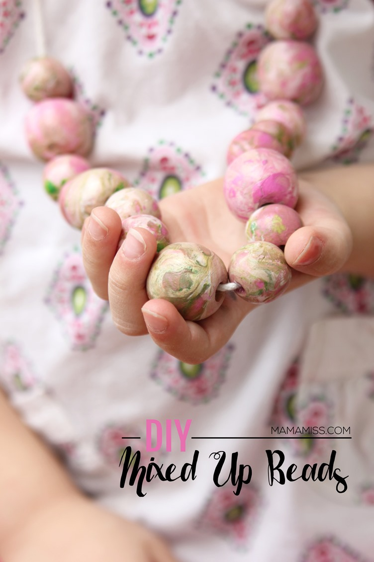 DIY Mixed Up Beads: Fabulous Way of Crafting Trendy Necklace At Home with Large Marble Beads