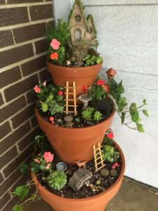 DIY Three-Tiered Fairy Graden Planter for Front Porch Decoration: A Mesmerizing House Decor Idea