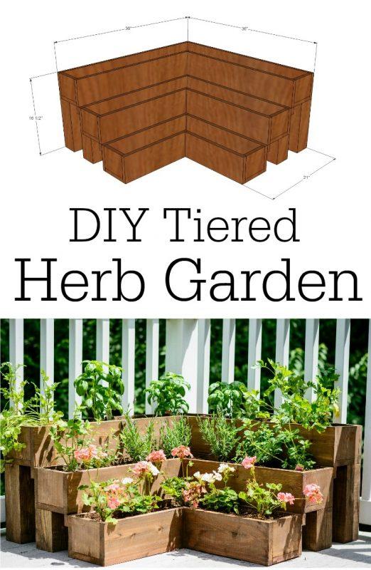 DIY Tiered Raised Garden Bed Tutorial: A Brilliant Garden Project for Herb Gardening