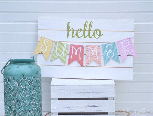 DIY Summer Banner Tutorial: A Perfect Porch Decor Idea for Colorful Summertime