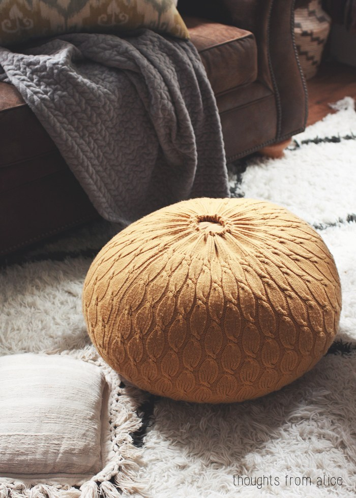 DIY Sweater Pouf Ottoman By Alice Wingerden: The Quickest Way to Craft A Woolen Ottoman At Home