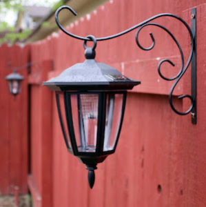 DIY Garden Decor with Dollar Store Hanging Lights For A Gorgeous Pathway