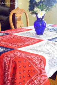 Fun & Frugal Summer Project: Easy DIY Bandana Tablecloth