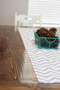Classy Easy DIY Table Runner Tutorial with Pattern Fabric Scraps