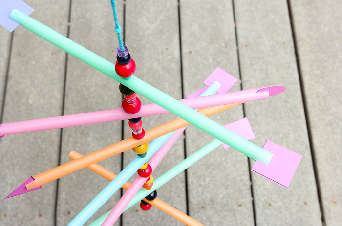 DIY Straw Mobile: Easy Kids' Craft Project For Summertime with Straws and Coloring Beads