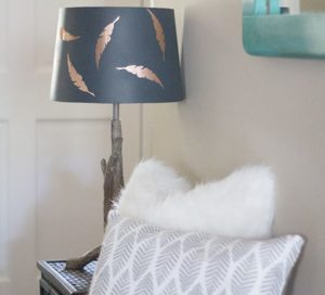 Easy Lamp Shade Update: A Classy-Looking DIY Lampshade Design with Contact Paper