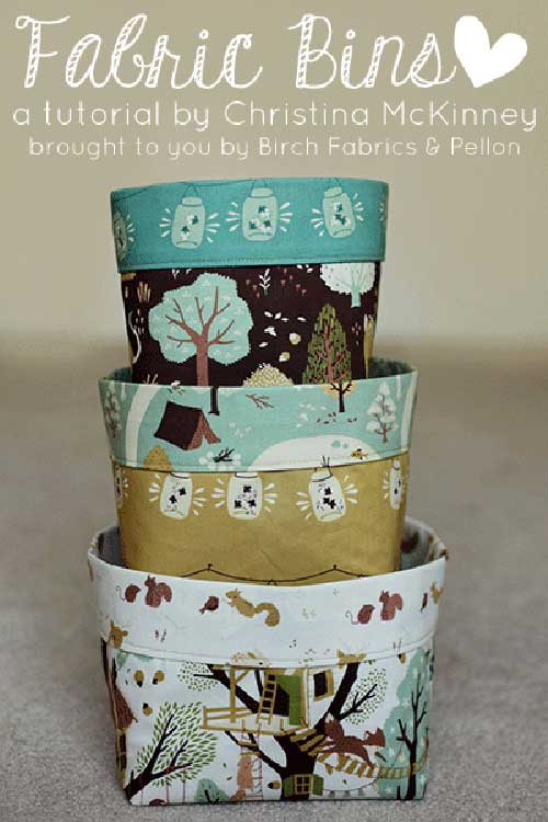 DIY Fabric Bins Tutorial with Free Sewing Pattern: A Wonderful Storage Solution Idea