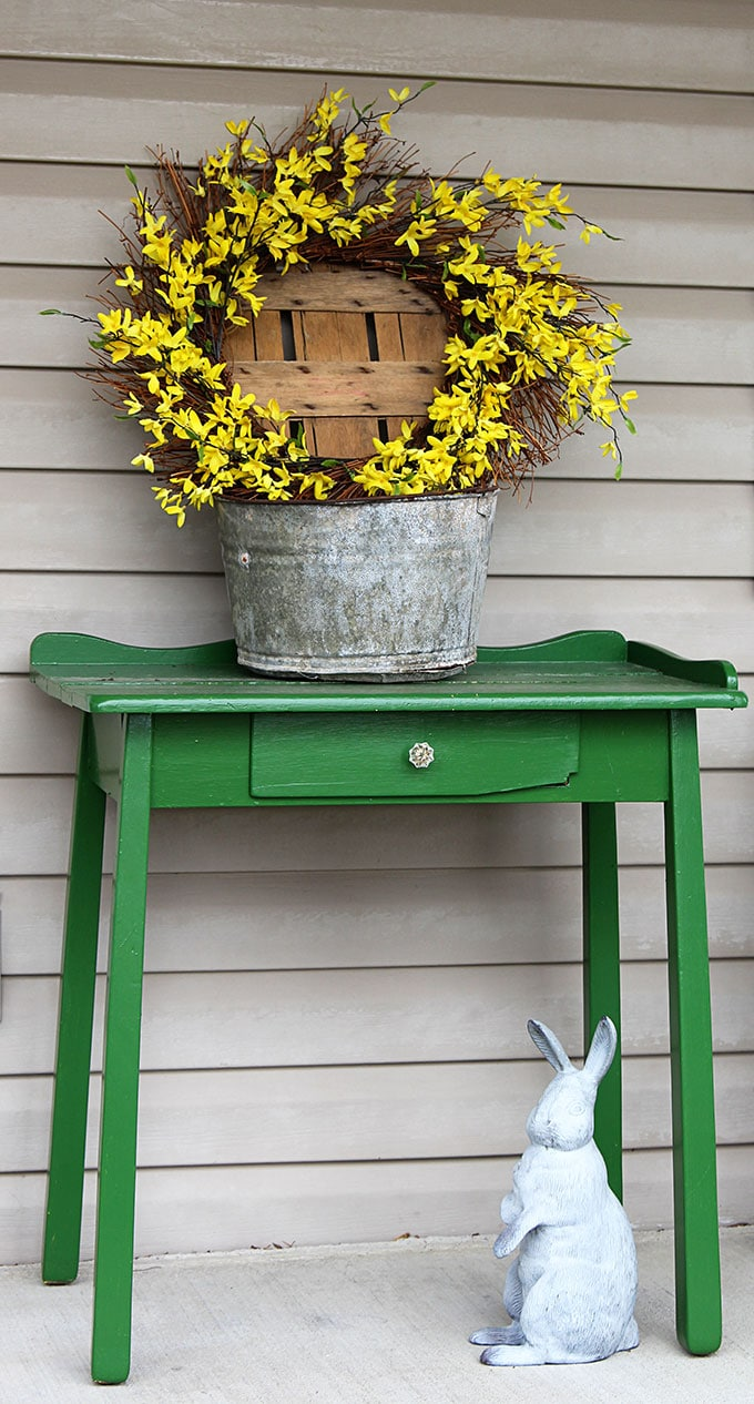 Spring Porch Decor in Rustic Farmhouse Pattern By The House of Hawthornes