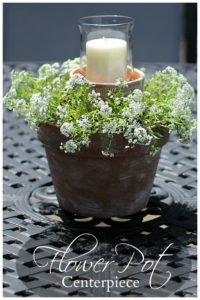 Flower Pot Centerpiece: Easy and Inexpensive DIY Craft Idea to Decorate Your Porch