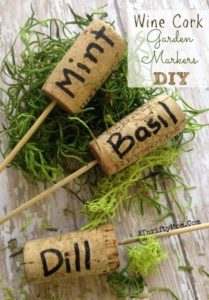 Garden Markers DIY Made with Wine Corks: Rustic Garden Decor Idea within Budget
