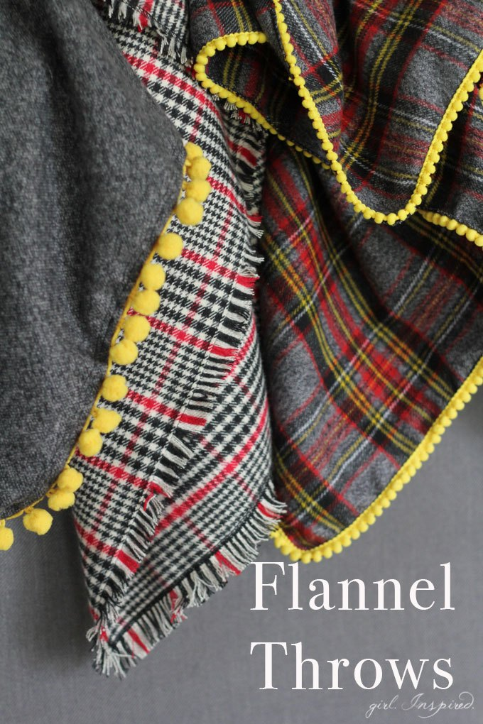 Super Soft Funnel Fringy Throw Blanket Tutorial with Mini Puff Ball Trims
