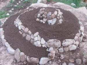 Grow a Herb Spiral Garden Family Food Garden with Rock Layers: Eco-Friendly Raised Bed