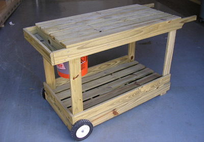 How to Build a Portable Potting Bench or Garden Cart with Wheels From Old Pallets