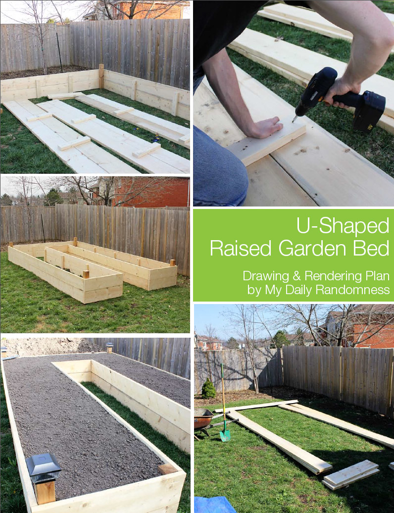 Tutorial of How to Build A U-Shaped Raised Garden Bed with Engineering Wood Planks