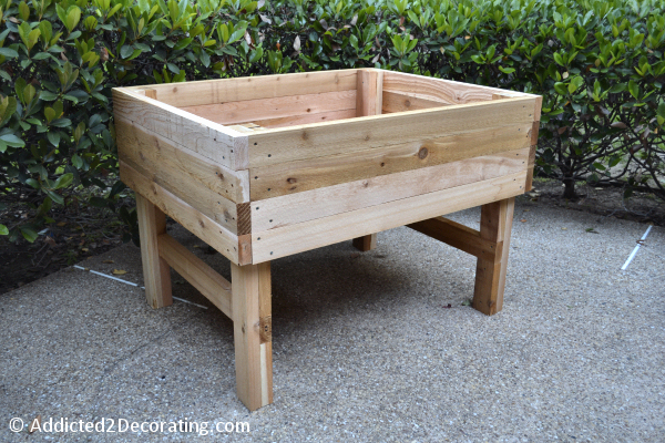 How To Build An Elevated Garden Bed with Lumber Planks: DIY Garden Project with Cedar Wood