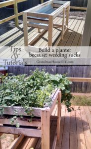 How to Build A DIY High Garden Planter: Tall Garden Planter for Vegetables and Easy weeding