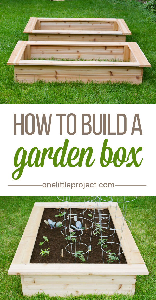 Tutorial of How to Build and Use a Wooden Garden Box as Raised Garden Planter
