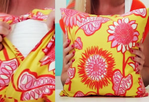How to Make a Pillow: Basic Pillow Tutorial with Bold Color Accents