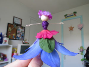 Tutorial of How to Make Flower Fairies with Embroidery Threads and Flower Petals