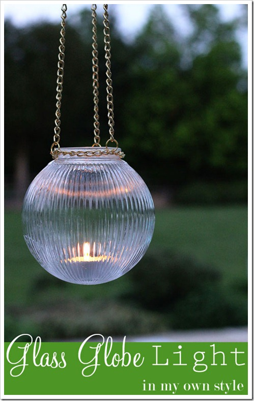 How To Make Outdoor Glass Hanging Lights with Sturdy Chain Strings