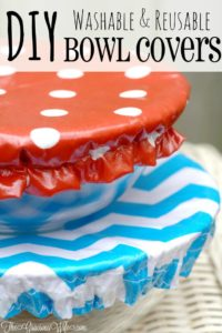 Easy Tutorial of How to Make Washable Reusable Bowl Covers By The Gracious Wife
