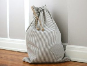 How to Sew a Drawstring Laundry Bag with Patterned Utility Fabric