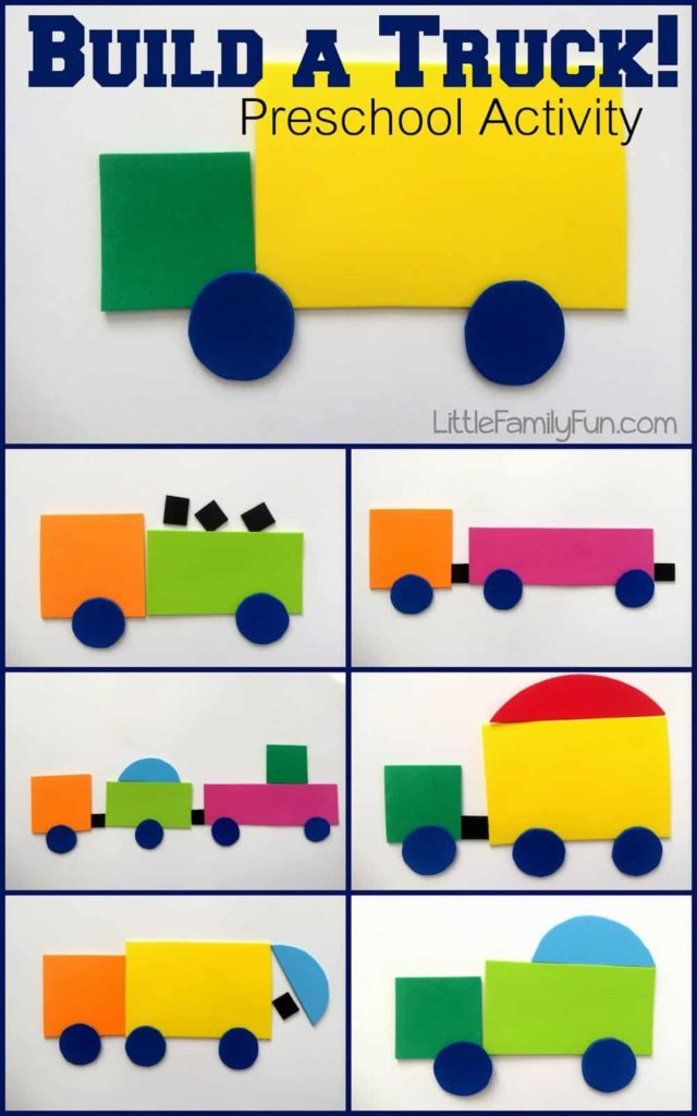 Build A Truck Project with Colorful Craft Foam Pieces: DIY Smart Construction Activity for Kids