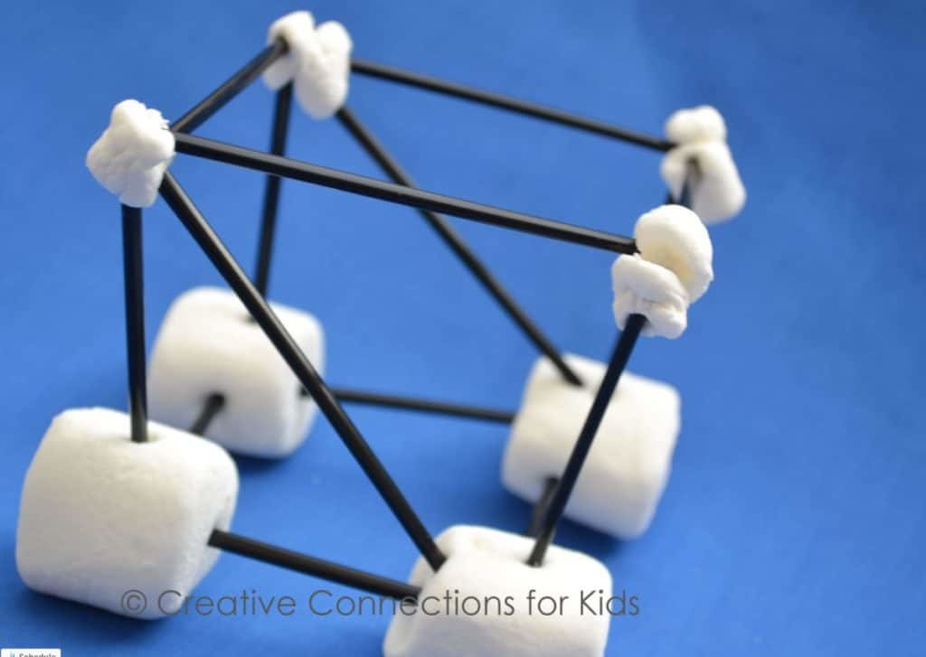 DIY Construction Kid's Activity: Marshmallow Tinkering for a Skyscraper House Structure