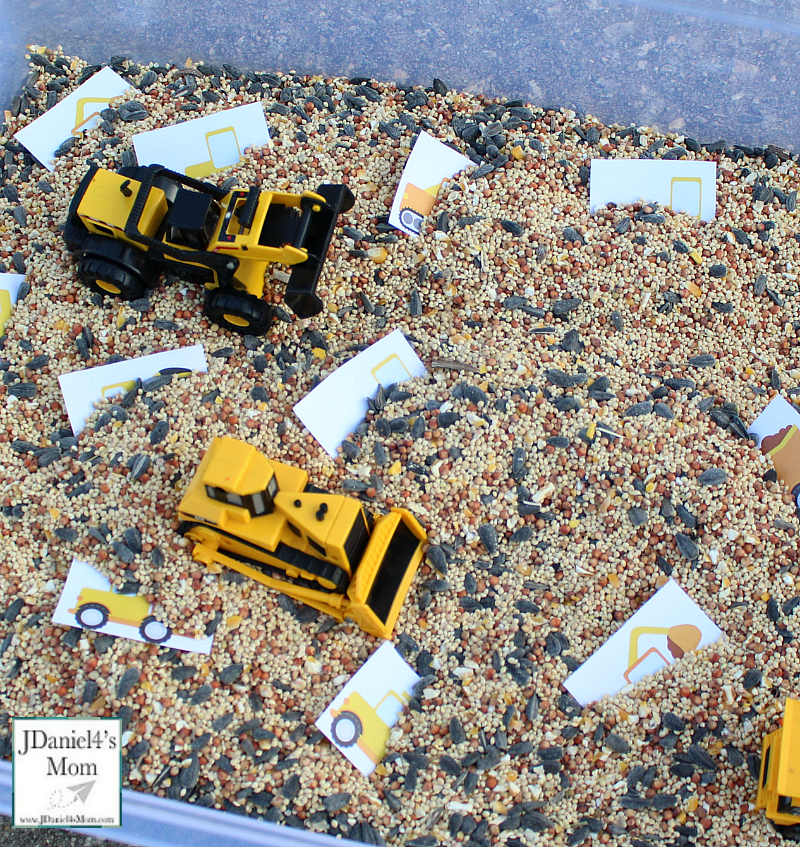 Digging Up and Sorting Construction Equipment: DIY Kids Challenge Game Idea