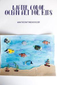 Plain Watercolor Ocean Art Project for Kids: A Mesmerizing Underwater View Through Simple DIY Pr ...