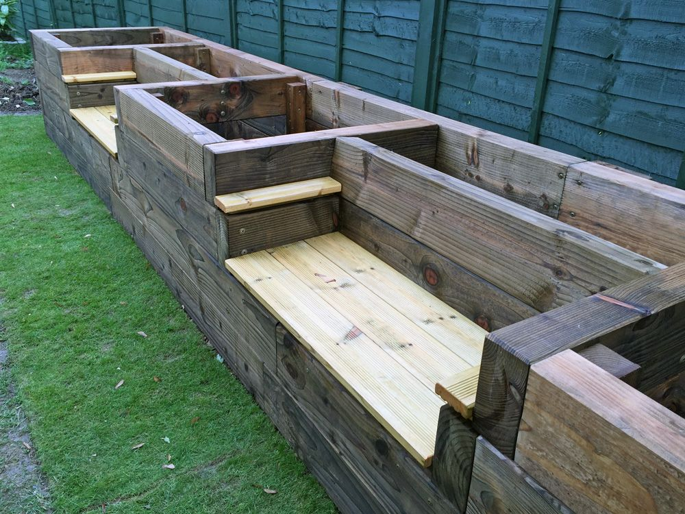 Les Mable's Raised Beds with Bench Seats: A Brilliant Garden Project for Large Backyards